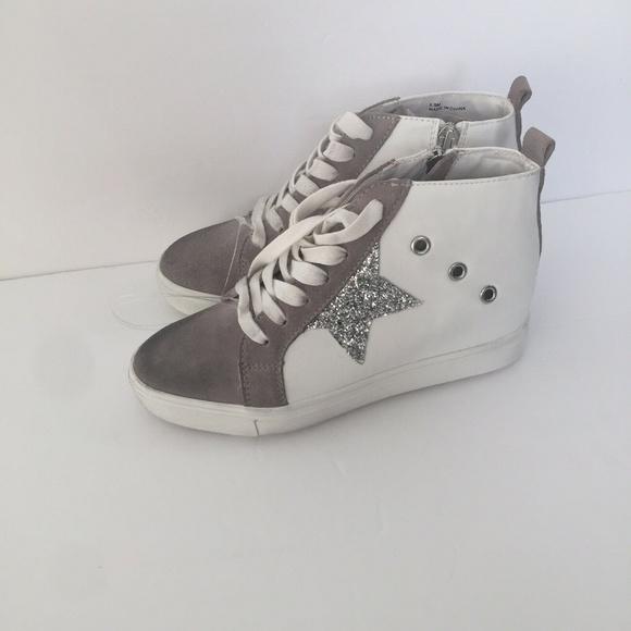 Steve Madden Shoes - Steve Madden Sabotage Fashion Sneakers White/Gray